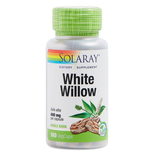 Solaray Vitamins, Minerals, Herbs & More Solaray White Willow Bark 400mg 100 Caps (581337645100)