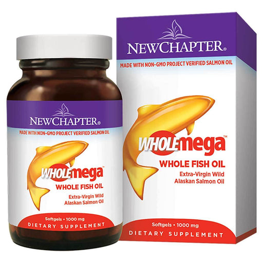 New Chapter Vitamins, Minerals, Herbs & More New Chapter WHOLEmega 1000mg 120 Soft Gels (581123604524)
