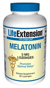 Life Extension Melatonin 3mg 60 Lozenges (to be dissolved in the mouth)