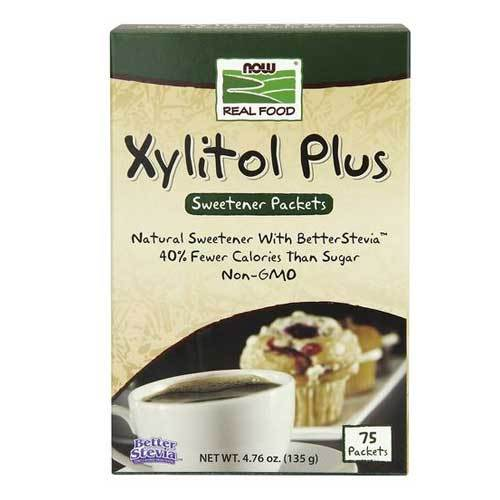 Now Foods Vitamins, Minerals, Herbs & More Now Foods Xylitol Plus Packets 75 / Box (582210682924)