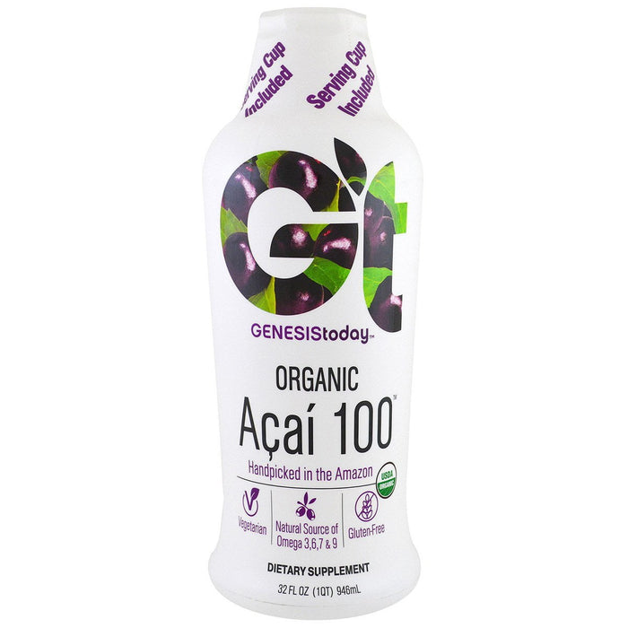 Genesis Today Vitamins, Minerals, Herbs & More Genesis Today Acai 100 100% Pure 32 oz (580865032236)