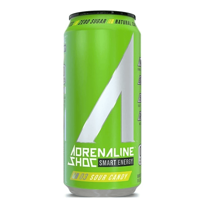Adrenaline Shoc Drinks Sour Candy Adrenaline Shoc Energy Drinks 12/Case (4365964410995)