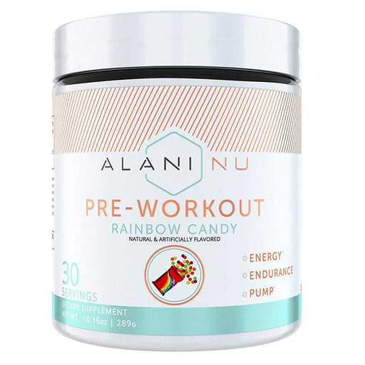 Alani Nu Sports Performance Recovery RAINBOW CANDY ALN PRE WORKOUT 30srv (1797449154604)