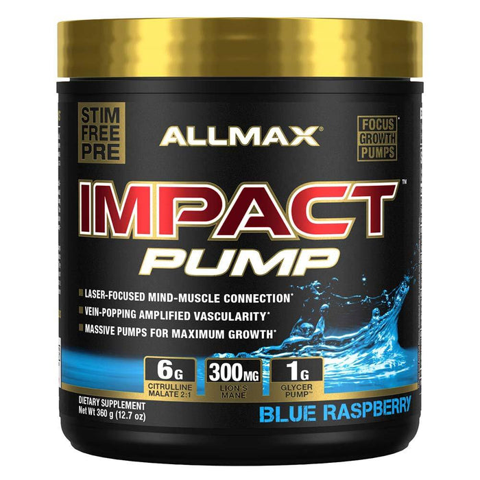 Allmax Nutrition Sports Nutrition & More Blue Raspberry Allmax Nutrition Impact PUMP (1589163687980)