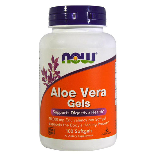 Now Foods Vitamins, Minerals, Herbs & More Now Foods Aloe Vera 10,000mg 100 Softgels (582157205548)