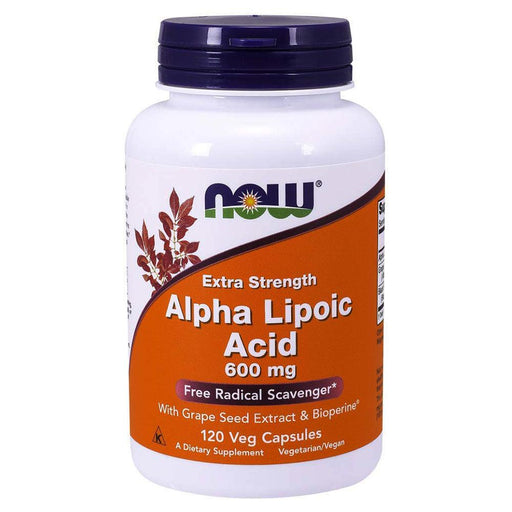 Now Foods Sports Nutrition & More Now Foods Alpha Lipoic Acid 600mg 120 Vegetable Capsules (582275072044)