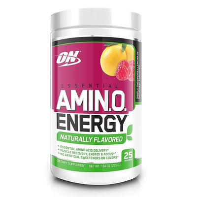 Optimum Nutrition Amino Acids Simply Raspberry Lemonade Optimum Nutrition Amino Energy Naturals 25 Servings