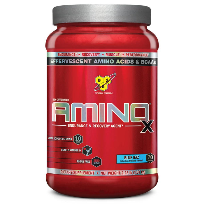 BSN Sports Nutrition & More Blue Raz BSN Amino X 70 Servings (582025412652)