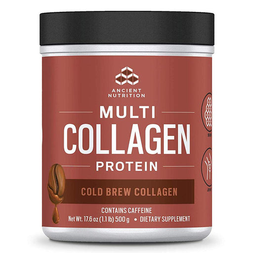 Ancient Nutrition Protein Powders Cold Brew Dr. Axe Multi Collagen Protein 1lb (1289348874284)