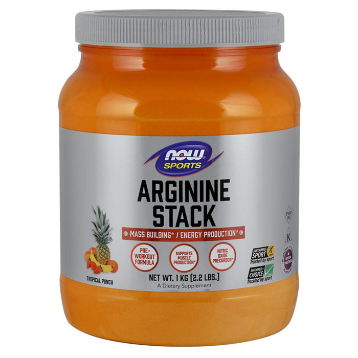 Now Foods Sports Nutrition & More Now Foods Arginine Stack Tropical Punch Flavor 2.2 Lb (580907171884)