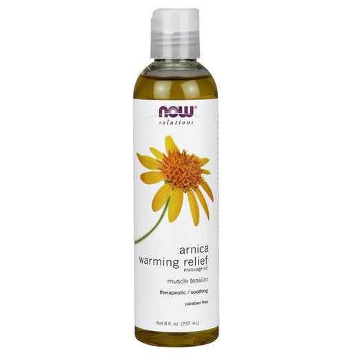 Now Foods Vitamins, Minerals, Herbs & More Now Foods Arnica Warming Relief Massage Oil 8 Oz (582188728364)