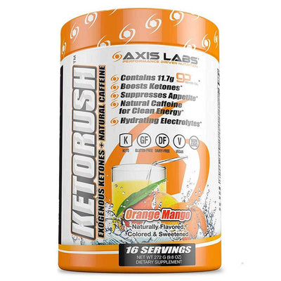 Axis Labs Sports Performance Recovery Orange Mango Axis Labs Ketorush 16 Servings (1697427193900)