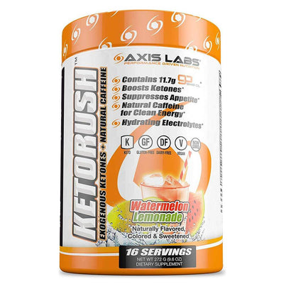 Axis Labs Sports Performance Recovery Watermelon Lemonade Axis Labs Ketorush 16 Servings (1697427193900)