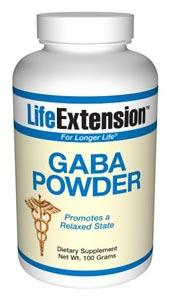 Life Extension Sports Nutrition & More Life Extension GABA (Gamma-Amino Butyric Acid) 100 grams (581030510636)