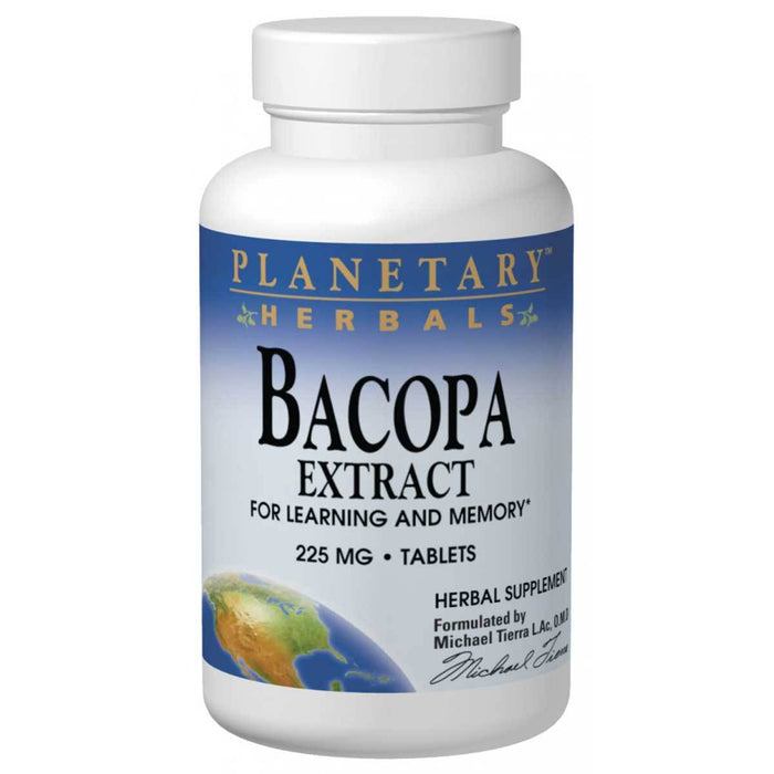Planetary Herbals Vitamins, Minerals, Herbs & More Planetary Herbals Bacopa Extract 225mg 120 Tabs (580962746412)