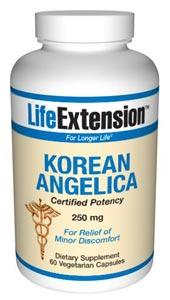 Life Extension Vitamins, Minerals, Herbs & More Life Extension Korean Angelica (certified potency) 250mg 60 Vegecaps (581052006444)
