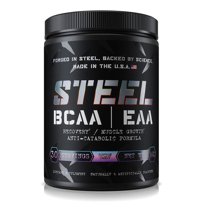 STEEL Amino Acids Cotton Candy Steel BCAA/EAA 30 Servings (3947153555500)