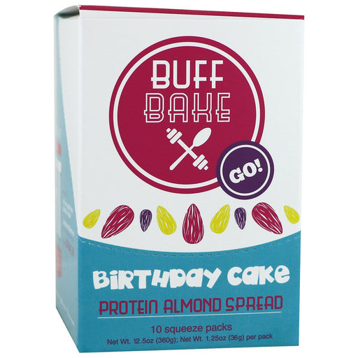 Buff Bake Sports Nutrition & More Buff Bake Birthday Cake Protein Almond Spread 10 Pack (582530269228)