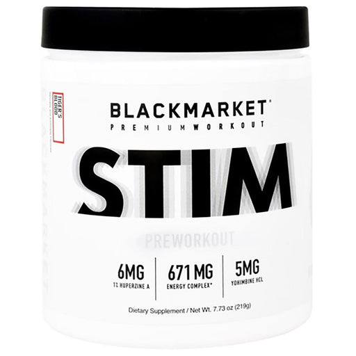Black Market Labs Pre-Workouts Black Market Labs Stim 30 Servings Tiger's Blood (4367025668211)