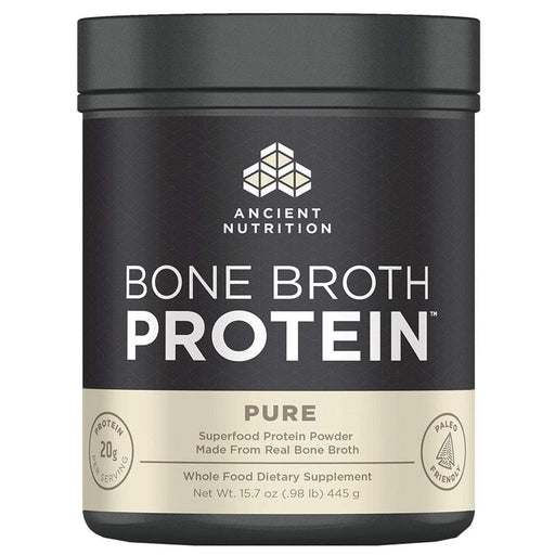 Ancient Nutrition Sports Nutrition & More Pure Ancient Nutrition Bone Broth Protein 20 Servings (582484459564)