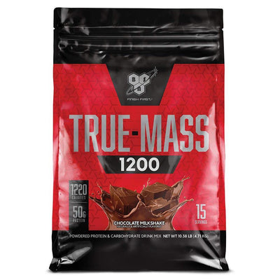 BSN Sports Nutrition & More Chocolate Milkshake BSN True-Mass 1200 10.25 Lbs