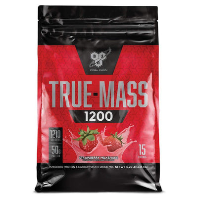 BSN Sports Nutrition & More Strawberry Milkshake BSN True-Mass 1200 10.25 Lbs