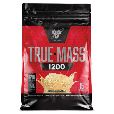 BSN Sports Nutrition & More Vanilla Ice Cream BSN True-Mass 1200 10.25 Lbs