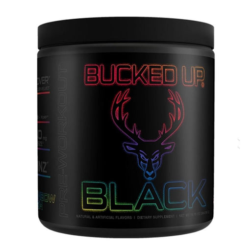 Bucked Up Pre-Workouts Rainbow Rush Bucked Up Bucked Up Black 30 Servings (4325404901491)