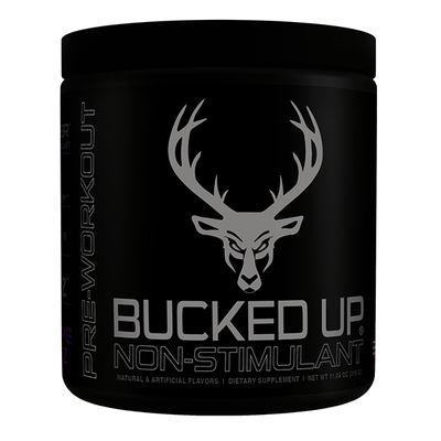 Bucked Up Sports Performance Recovery Stim Grape Bucked Up Stim Free 30 Servings (3897412321324)
