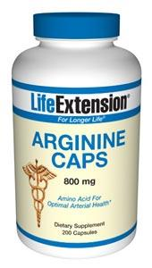 Life Extension Sports Nutrition & More Life Extension Arginine 800 mg 200 Caps (581026480172)