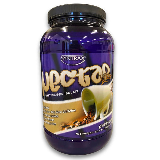 Syntrax Sports Nutrition & More Syntrax Nectar Lattes Whey Protein Isolate Cappuccino 2 Lbs (580771315756)