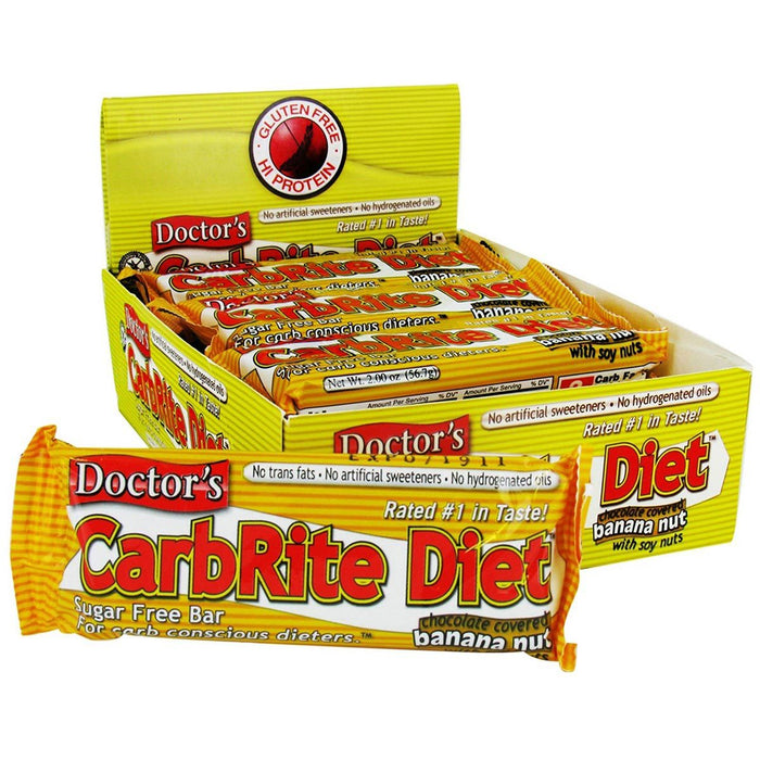 Universal Sports Nutrition & More Chocolate Banana Nut Universal DRs Diet CarbRite Bars 12/Box (580604592172)