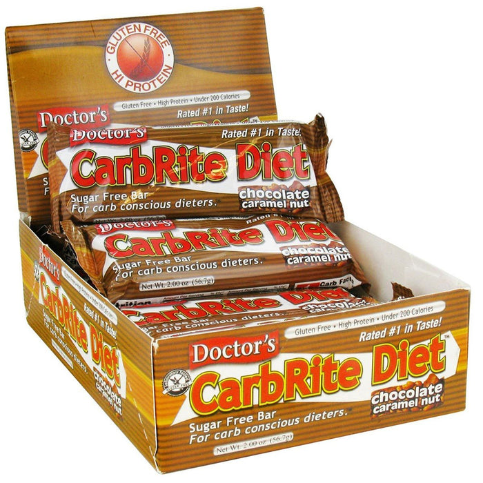 Universal Sports Nutrition & More Chocolate Caramel Nut Universal DRs Diet CarbRite Bars 12/Box (580604592172)