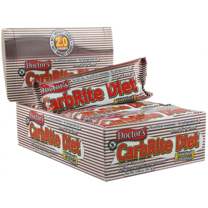 Universal Sports Nutrition & More Toasted Coconut Universal DRs Diet CarbRite Bars 12/Box (580604592172)