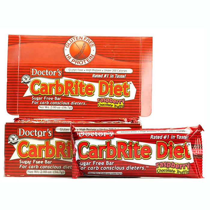 Universal Sports Nutrition & More Raspberry Chocolate Truffle Universal DRs Diet CarbRite Bars 12/Box (580604592172)