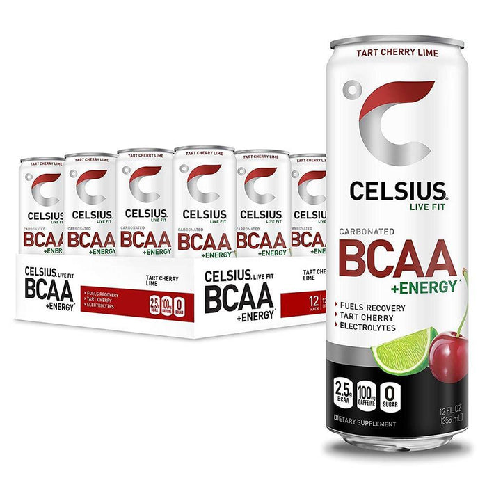 Celsius Drinks Cherry Lime Celsius BCAA + Energy Drink 12/Case (4546253324403)