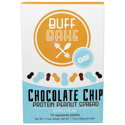 Buff Bake Sports Nutrition & More Buff Bake Chocolate Chip Protein Peanut Butter Spread 10 Pack (582533513260)
