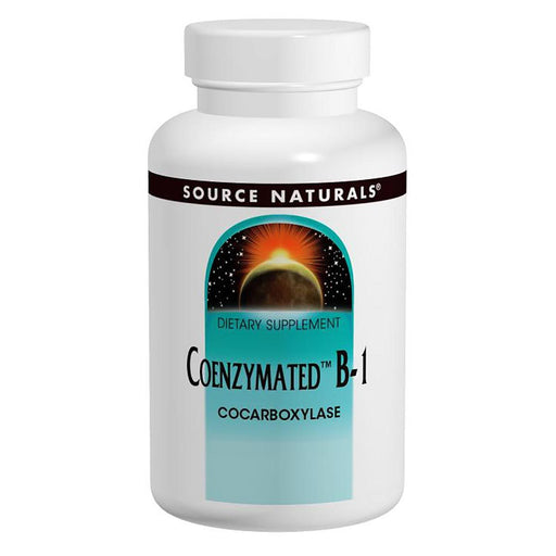Source Naturals Vitamins, Minerals, Herbs & More Source Naturals Coenzymated B-1 Sublingual 25mg 60 Tablets (580787077164)