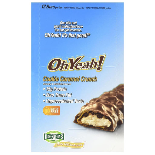 ISS Research Sports Nutrition & More OhYeah! Bar Cookie Caramel Crunch 12 Bars (581749637164)