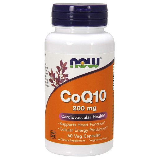 Now Foods Vitamins, Minerals, Herbs & More Now Foods CoQ10 200 Mg 60 Vegetable Capsules (582224445484)