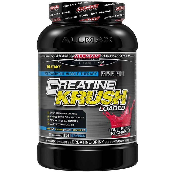 Allmax Nutrition Sports Nutrition & More Allmax Nutrition Krush Loaded Fruit Punch Recharge 3.3 Lbs (581220433964)