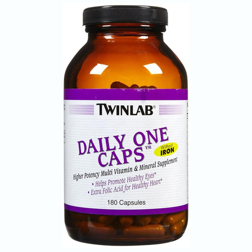 Twinlab Vitamins, Minerals, Herbs & More Twinlab Daily One w/o Iron 180 Caps (581231476780)