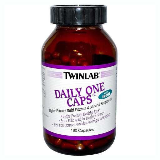 Twinlab Vitamins, Minerals, Herbs & More Twinlab Daily One w/ Iron 180 Caps (581231247404)