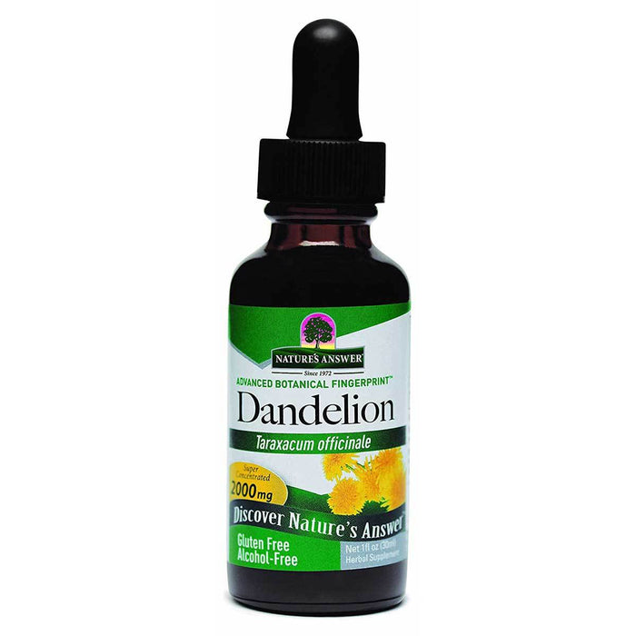Nature's Answer Vitamins, Minerals, Herbs & More Nature's Answer Dandelion Root Liquid Extract 1 fl Oz (580718690348)