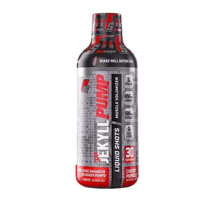 Pro Supps Nitric Oxide CHERRY POPSICLE Pro Supps Dr Jekyll Pump Liquid Shots 30SV (4176063954988)