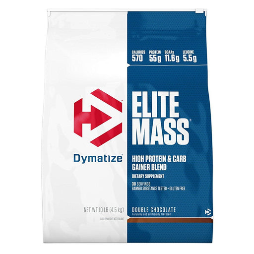 Dymatize Sports Nutrition & More Strawberries & Cream Dymatize Elite Mass 10 lbs (4540g) (581691080748)