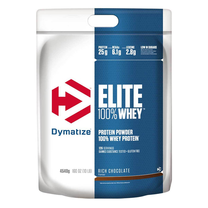 Dymatize Sports Nutrition & More Rich Chocolate Dymatize Elite Whey Protein 10 lbs (581480185900)