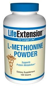 Life Extension Sports Nutrition & More Life Extension L-Methionine 100 grams (581023596588)
