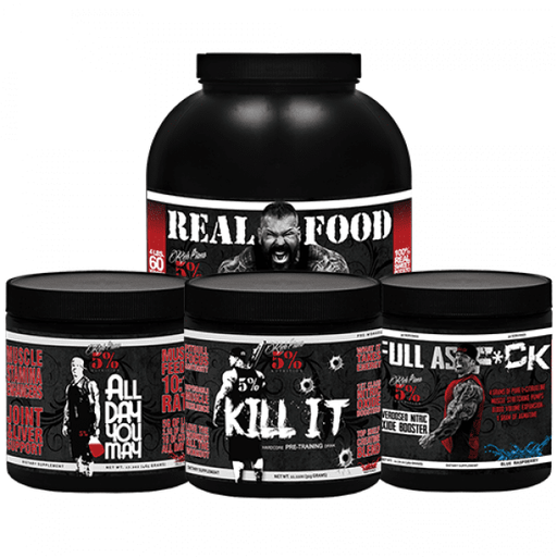 5% Nutrition Sports Nutrition & More Rich Piana 5% Nutrition Eat Dirty Train Dirty Stack (748075778092)