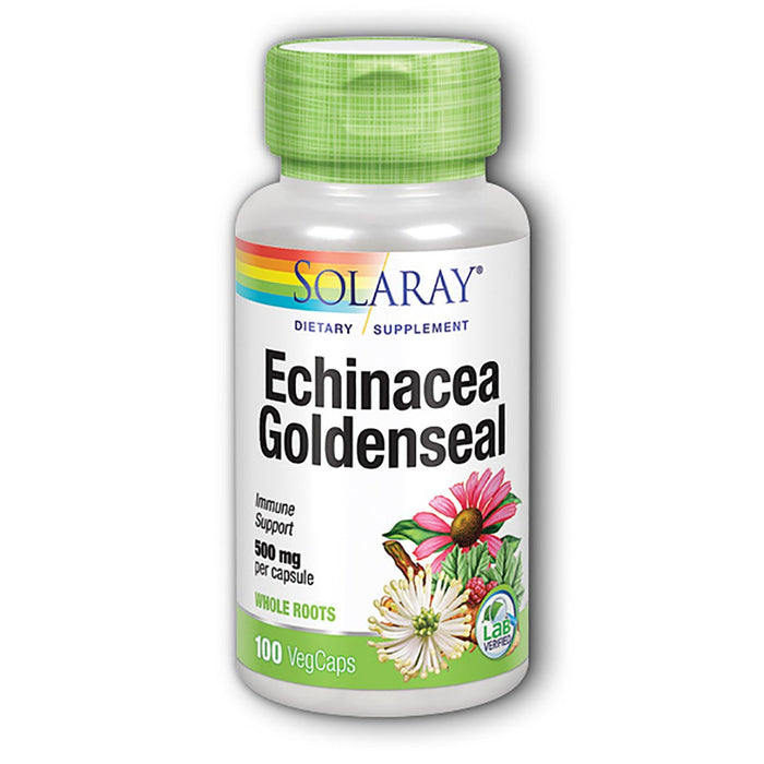 Solaray Vitamins, Minerals, Herbs & More Solaray Echinacea w/ Goldenseal 500mg 100 Caps (580503961644)
